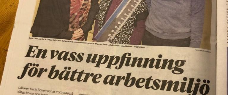 Artikel i tidningen Hallå, vecka 51, onsdagen 19 december 2018, Pathease - Karin Schemschat - JIJ-Plast AB